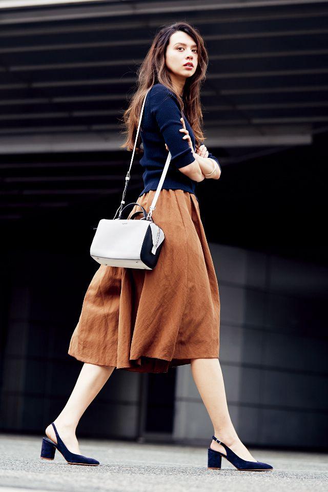 新鮮カラーno1ならテラコッタ ファッションスカート