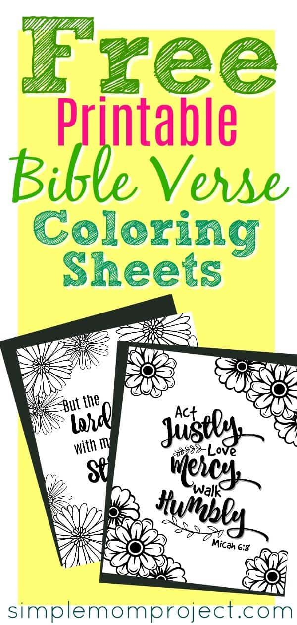 Free Printable Bible Verse Coloring Sheets - Simple Mom Project #coloringsheets