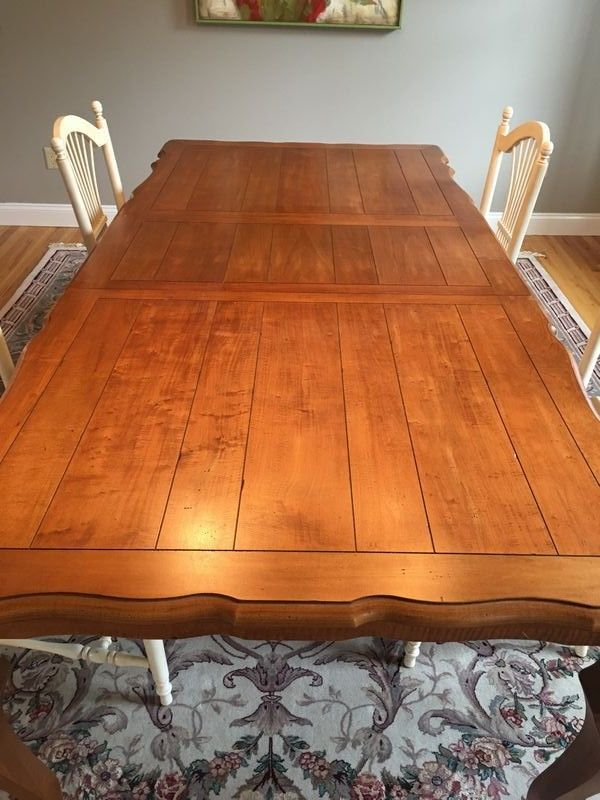 ethan allen dining room table and 4 chairs table measures 70 x 40 rh pinterest com ethan allen maple dining room table and chairs Ethan Allen Kitchen Table and Chairs