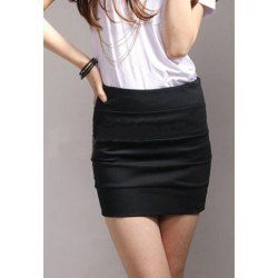 $6.16 Mix Match Solid Color A-Line Sheath Skirt For Women
