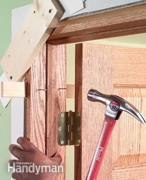 Tool tips prehung doors drywall and cleats to install an interior prehung door a slick trick is to screw cleats across the planetlyrics Images