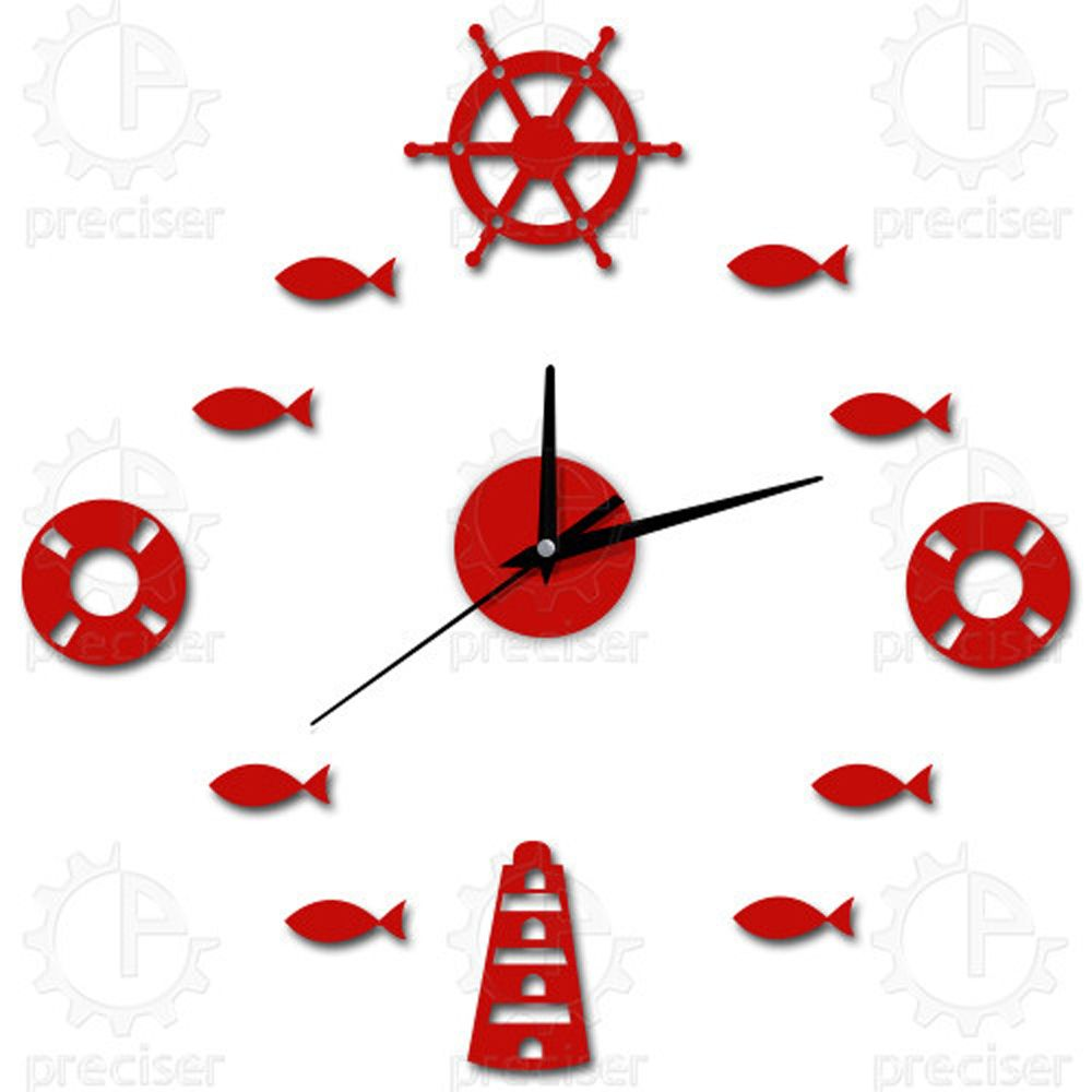 12\'\' Digital Butterfly Flower DIY Quartz Clock 3D Sticker Large ...