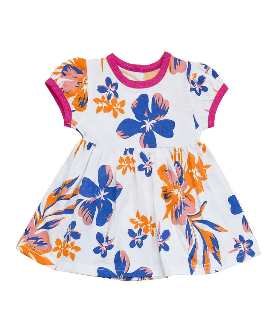 Look at this White & Purple Aloha Floral Alice Dress - Infant & Toddler on #zulily today!