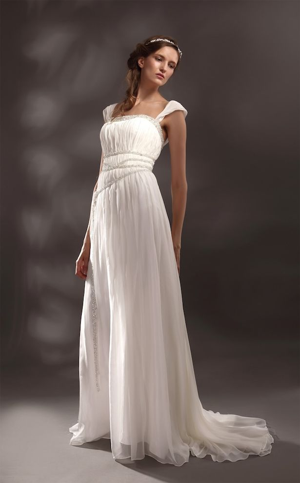 Greek goddess style wedding dresses confetti wedding for Grecian style wedding dresses