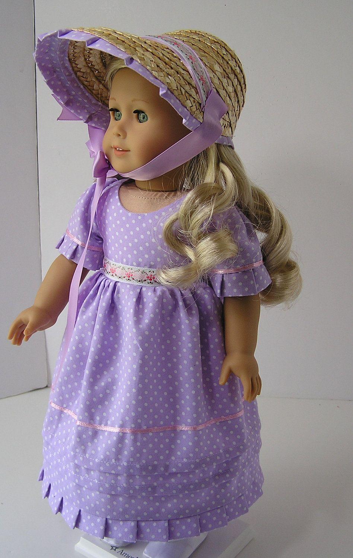 Day Dress and Bonnet for Caroline. $25.00, via Etsy.