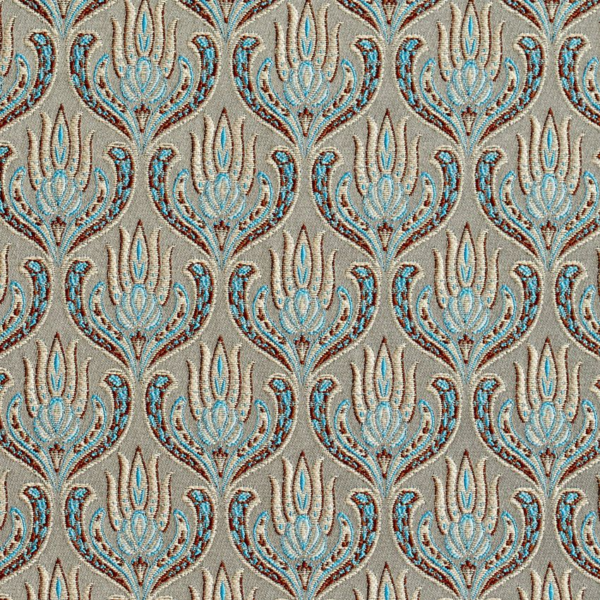 Turquoise And Beige Ornate Oriental Heirloom Foliage Brocade Upholstery Fabric Tapestry Fabric Upholstery Fabric Fabric Decor