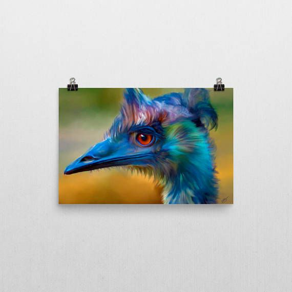 Emu downloadable art print do it yourself diy print large malika emu downloadable art print do it yourself diy print large solutioingenieria Image collections
