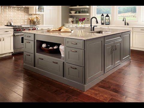 Lowe's island | Kraftmaid kitchen cabinets, Kitchen island ...