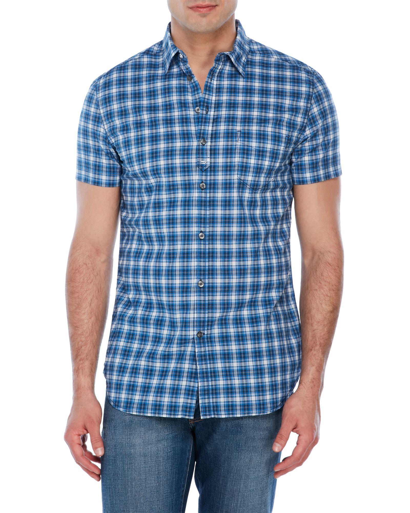 Diesel Jugo Short Sleeve Plaid Shirt