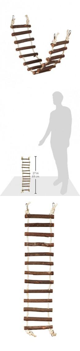 Prevue Hendryx 62807 Naturals Rope Ladder Bird Toy Large