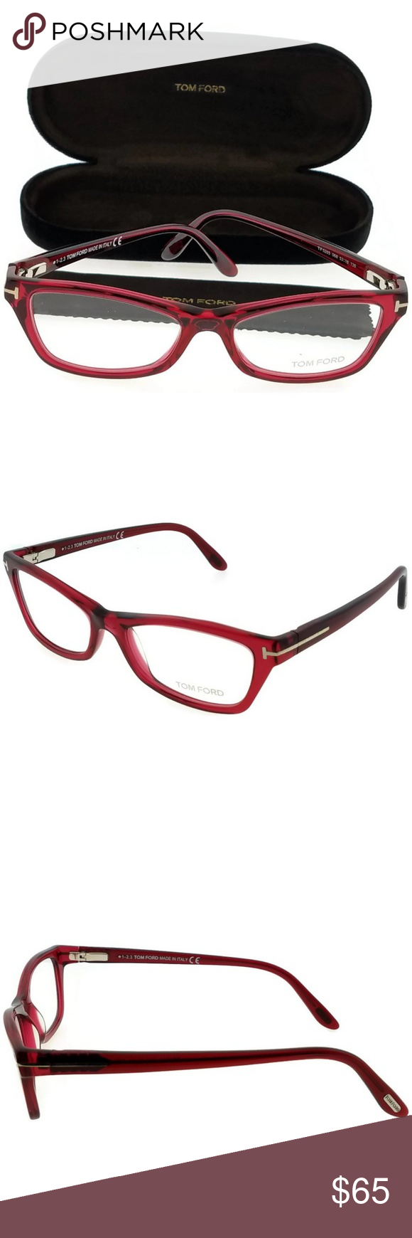 15adf13a2f39 FT5265-068 Tom Ford Eyeglasses New gorgeous authentic Tom Ford FT5265-068  women s red