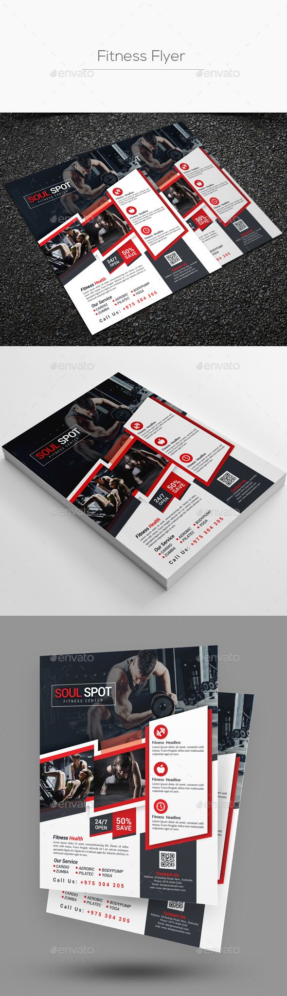 Fitness Flyer Template By Designsoul14 Fitness Flyer Template