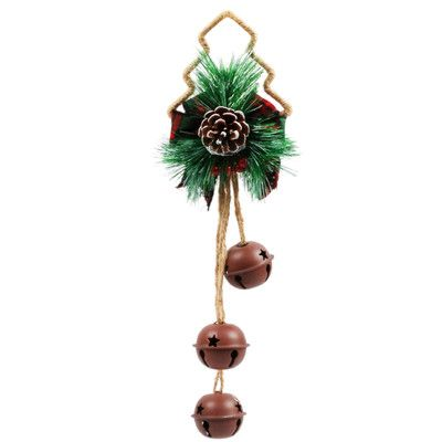 Bell Decoration Magnificent Jeco Incpine Tree Door Hanger Jingle Bell  Pine Tree And Products Inspiration