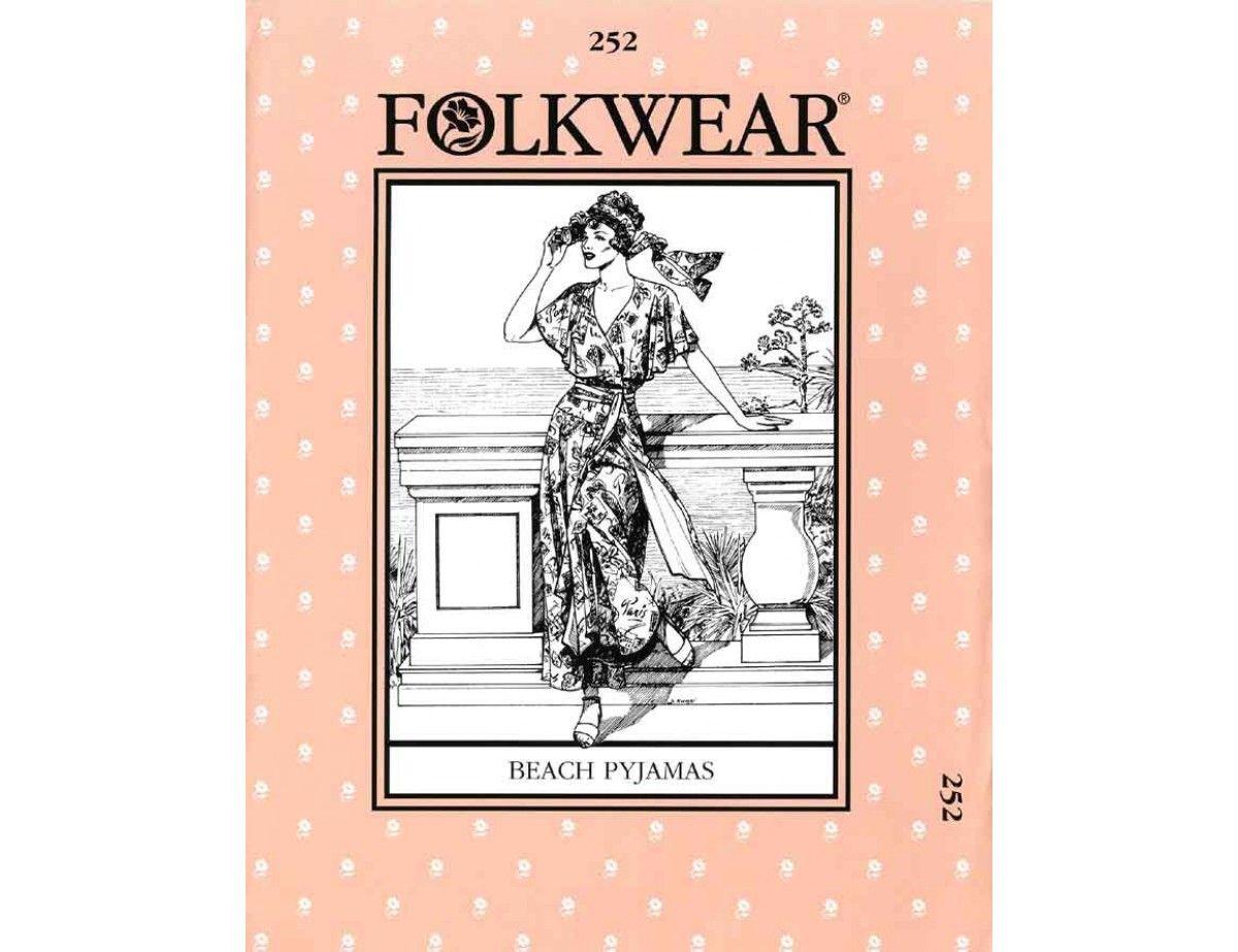 Folkwear 1920\'s Beach Pajama Pattern #252 | dress making | Pinterest ...