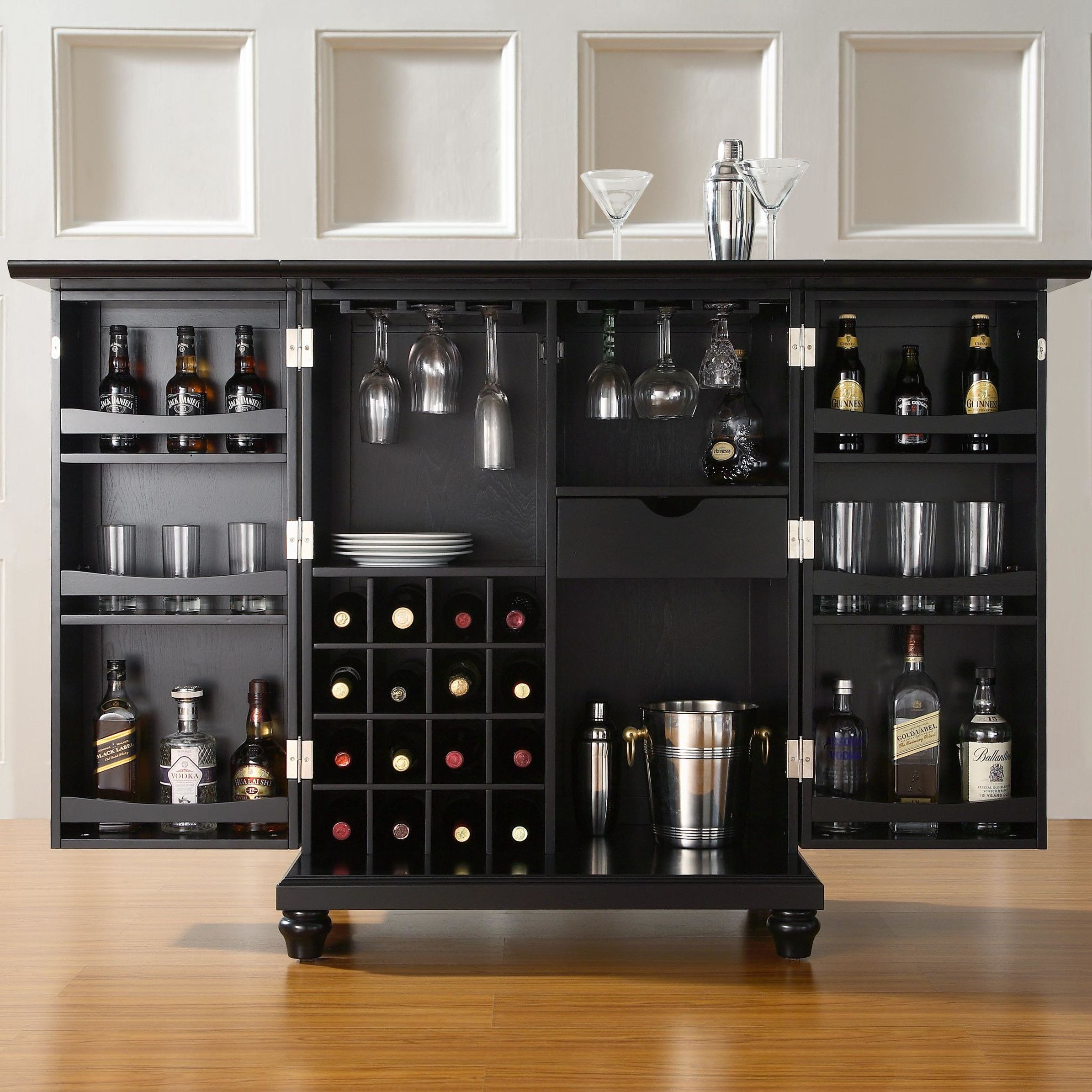 Crosley Furniture Cambridge Expandable Bar Cabinet Shop Wayfair For Bar Cabinets To Match Every Style And