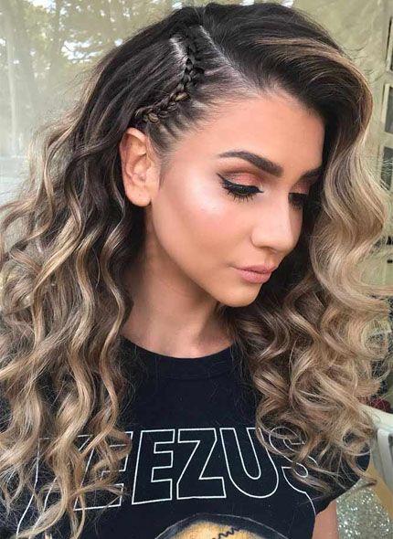Cute Side Braid Hairstyle Easy Summer Hairstyles Easy Hairstyles Diy Hairstyles