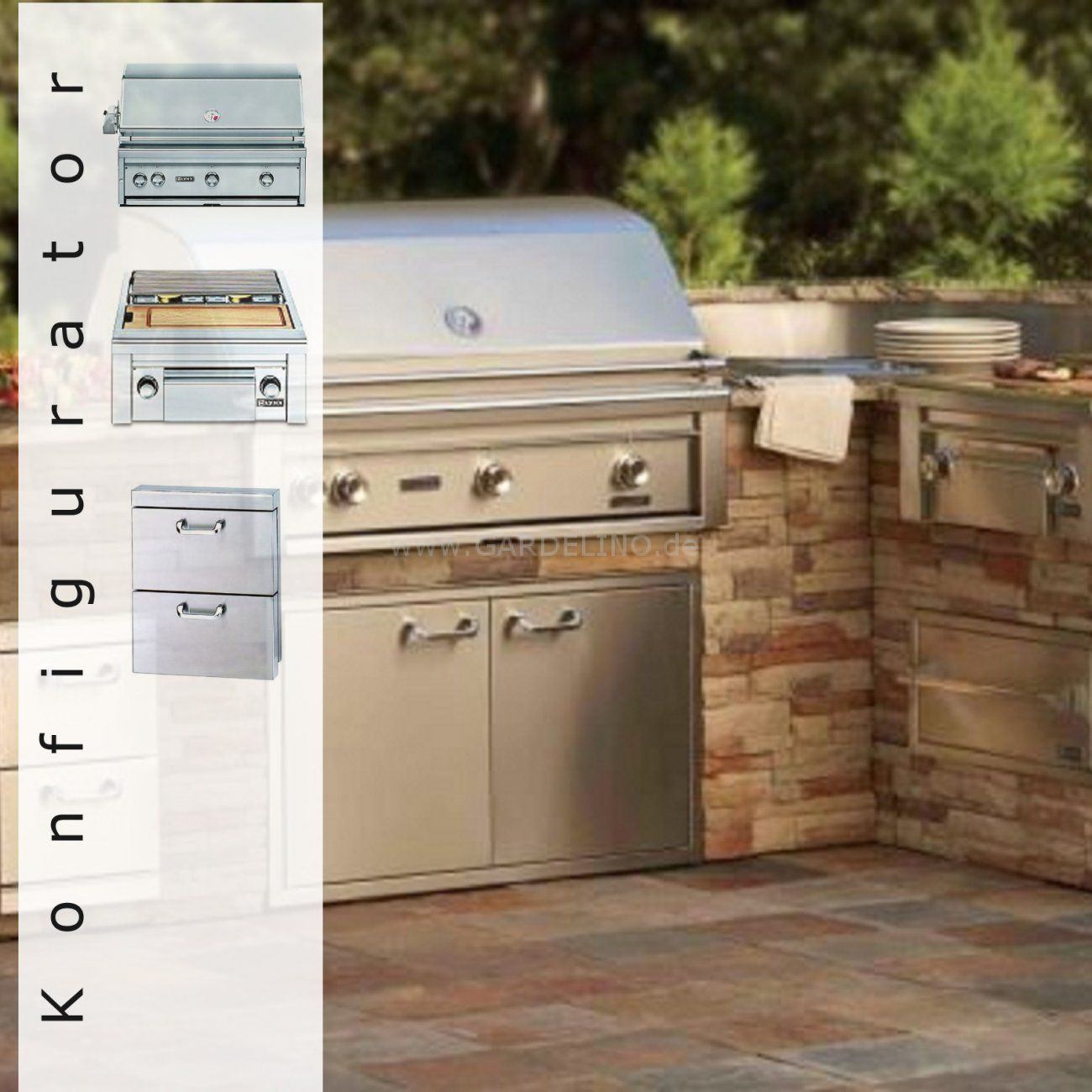 Lynx Außenküche Konfigurator | Außenküche selber bauen | Pinterest ...