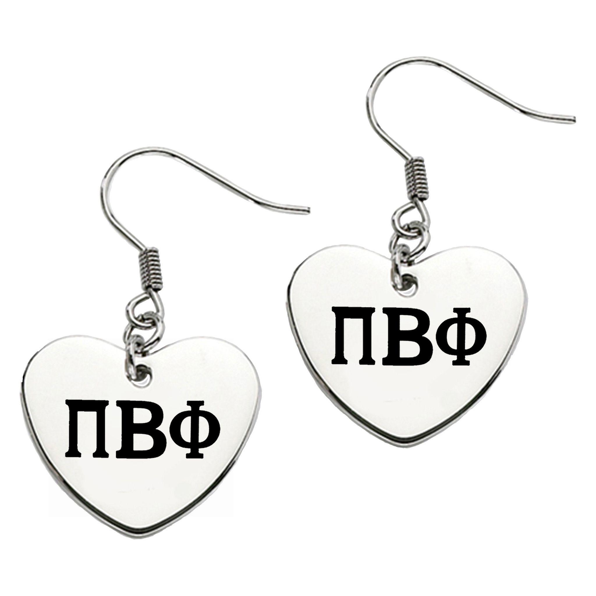 Pi beta phi greek letters heart shape drop earrings drop pi beta phi greek letters heart shape drop earrings biocorpaavc Image collections
