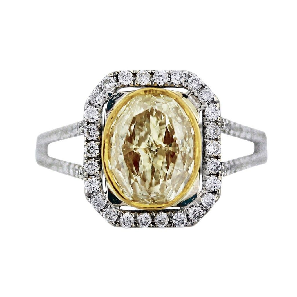 canary ring yellow of pave and rings picture diamond