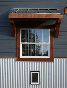 White Windows On Corrugated Metal Mobile Home Exteriors Metal Siding House Exterior House Siding
