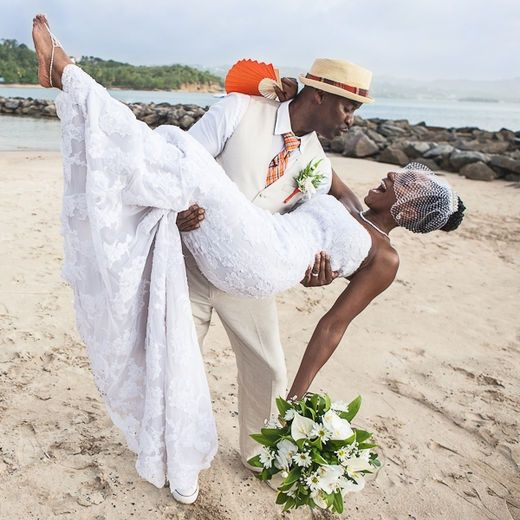 Image Result For Black Couple Beach Wedding Beach Wedding Couple Beach Beautiful Beach Wedding