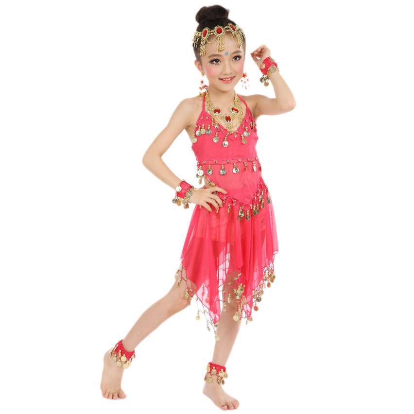 401d8f7e0 Popular Handmade Kids Girls Belly Dance Costumes Kids Belly India ...