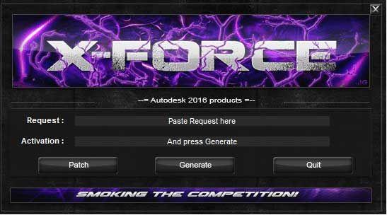 Activar productos Autodesk 2016   X-Force 2016 (32/64 bits)