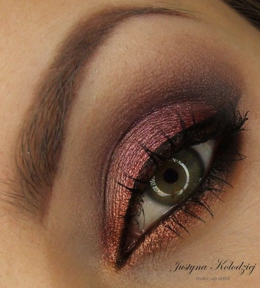 'Autumn Purple' Idea Gallery look by Dzastina252 using Makeup Geek's Bitten, Corrupt, and Mocha eyeshadows along with Enchanted, and Nightlife pigments!