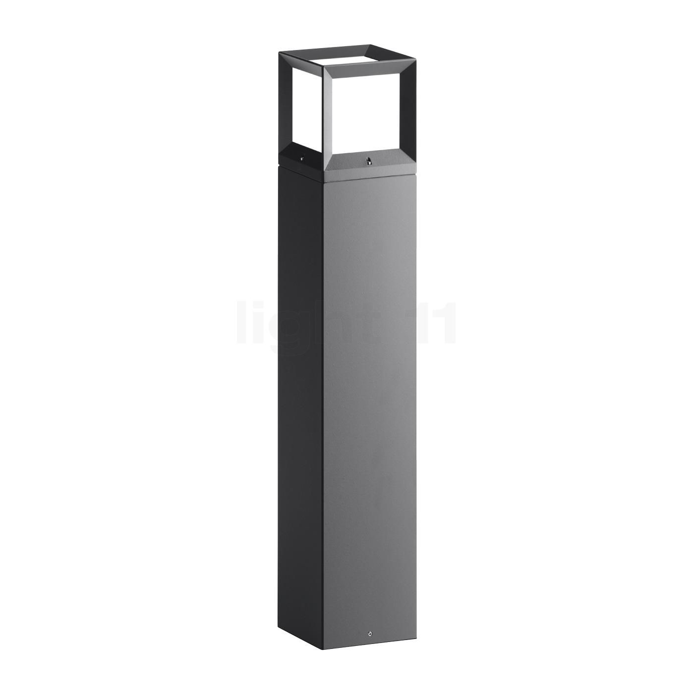 Traditional Nautical Black Ip44 Outdoor Garden Bollard: Contemporary #armeria Square Bollard Lights