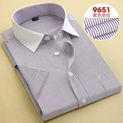 Solid Men Dress Shirts 2014 New Non Iron Luxury Slim Fit Short Sleeve Brand Business Fashion Formal Shirts F0098