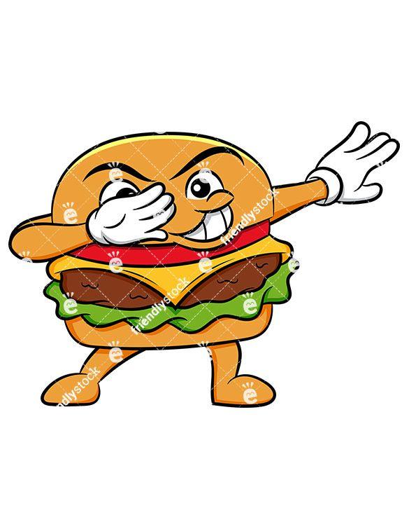 dabbing hamburger sandwich cartoon vector clipart friendlystock cartoons vector burger cartoon cartoon dabbing hamburger sandwich cartoon