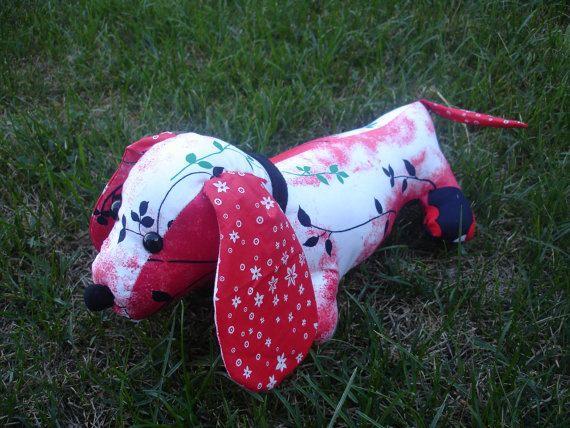BREA - Stuffed vintage dachshund pdf sewing pattern animal/DIY Doll ...