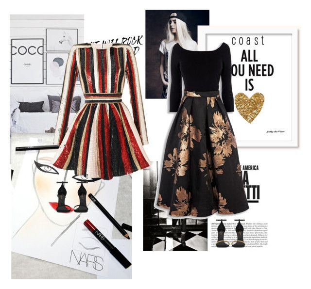 """""""Dress up like..."""" by audrey-balt ❤ liked on Polyvore featuring Creatures Of The Wind, Zuhair Murad and Yves Saint Laurent"""