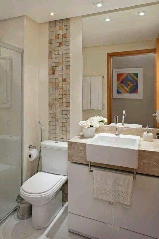 Bonito Banheiros Pequenos Modernos Apartamentos Pequenos