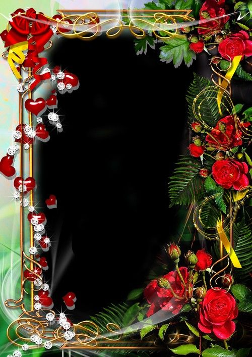 Frame For Your Photo Red Roses Free Photo Frames Iphone Background Wallpaper Birthday Photo Frame
