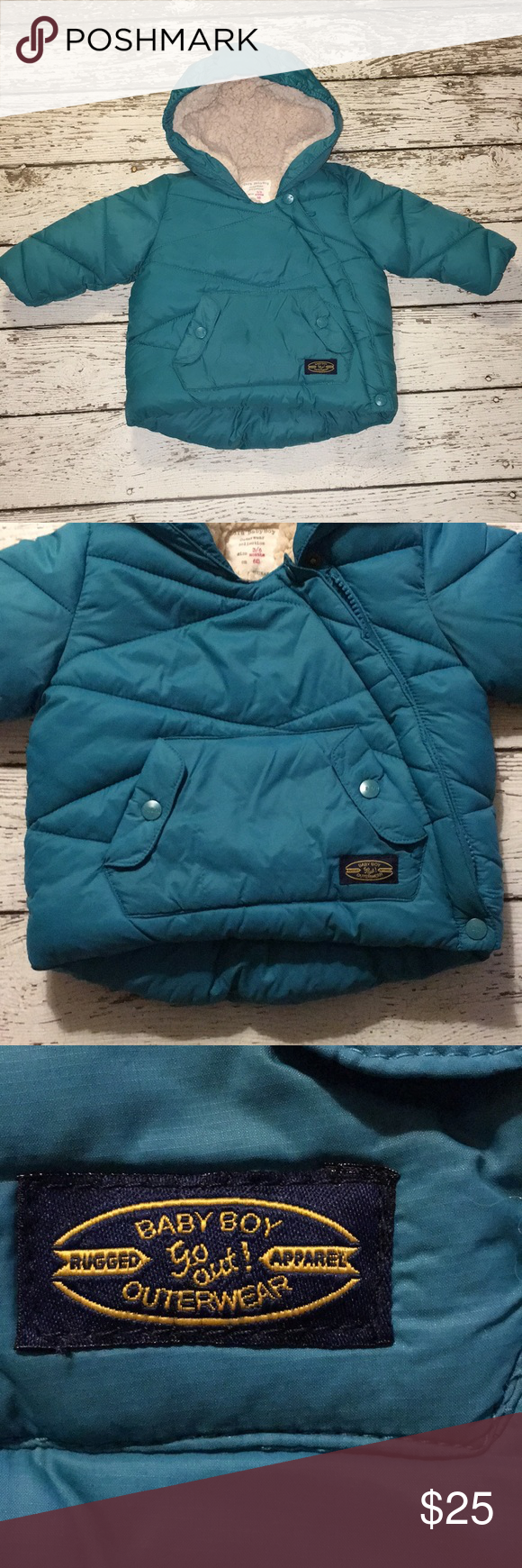 Zara Baby Boy elbow patch Coat Outerwear 3 6 mos Coat is ...