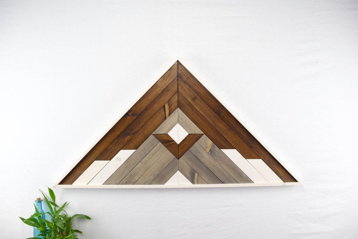 Wood Wall Art Hanging Winter Mountain Peak Design Triangle Shaped With 33 Inch Wooden Wall Art Hanging Wood Wall Art Hanging Wall Art Diy Wall Art