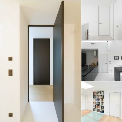 Modern Interior Doors With Modular Hinges And Adjustable Swing