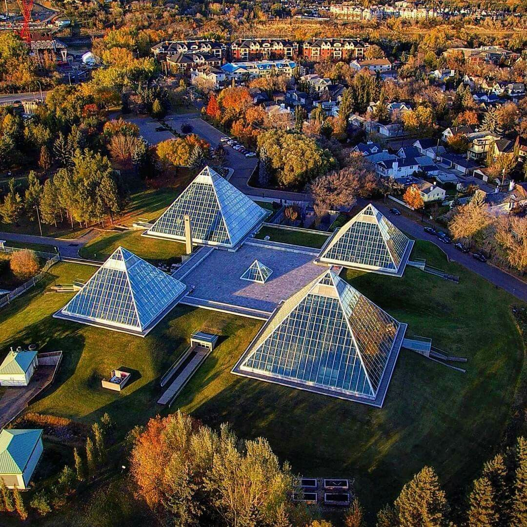 Amazing Places Canada: Beautiful View Of The Muttart Conservatory!