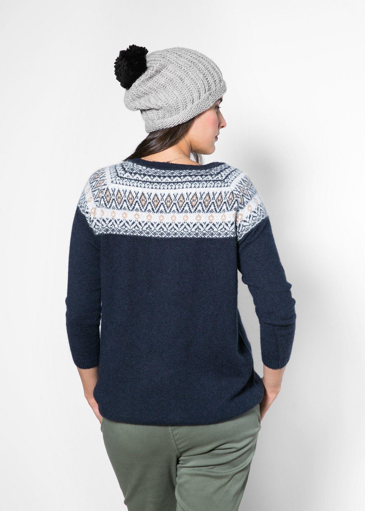 Pullover jacquard alpaca - Donna | MANGO