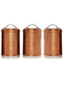 George Home Copper Canister Set | Canisters and Bread Bins | George at ASDA  sc 1 st  Pinterest & George Home Copper Canister Set | Canisters and Bread Bins | George ...
