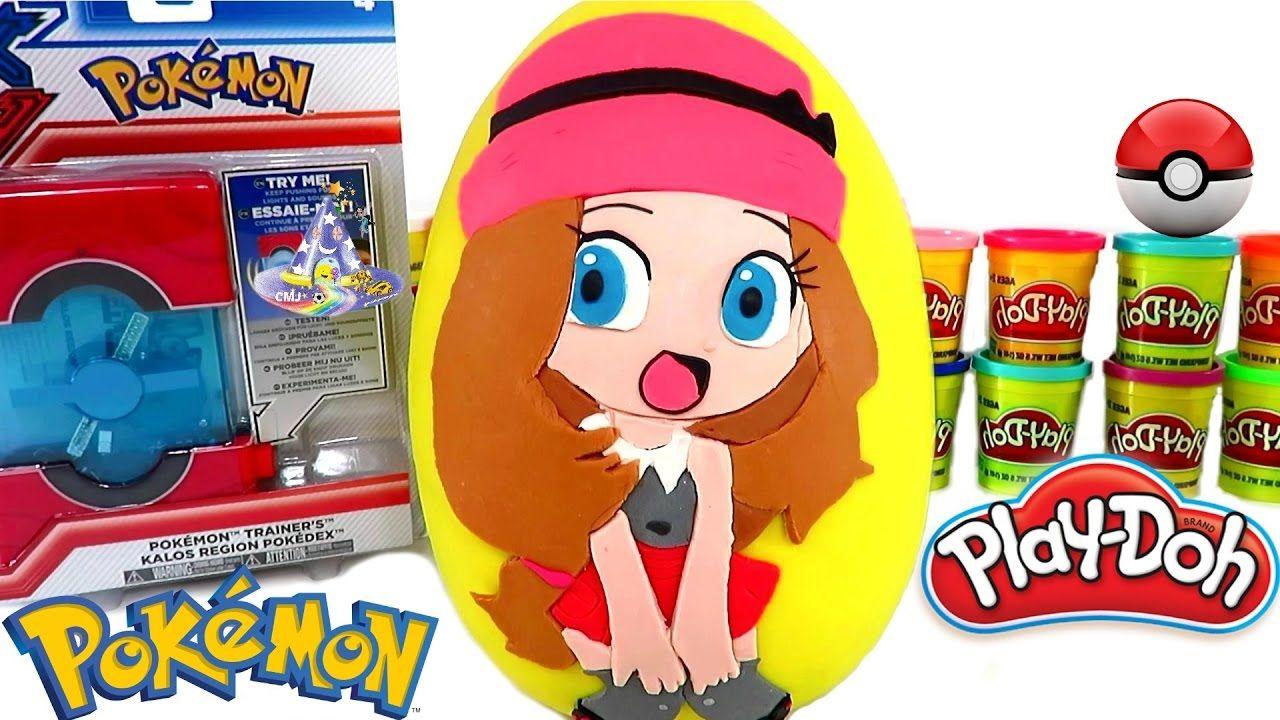 Huevo Sorpresa Gigante de Serena de Pokémon de Plastilina Play Doh en Es...