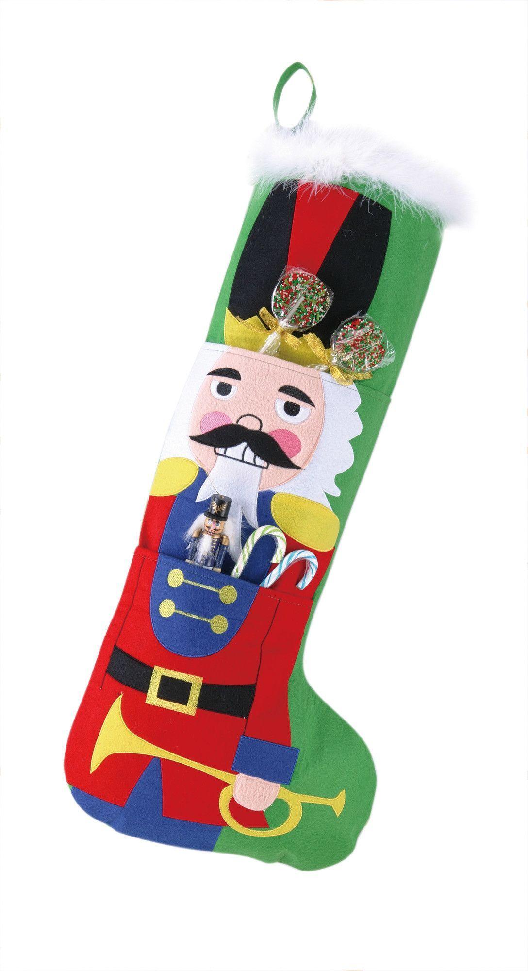 Jumbo Nutcracker Stocking | Felt stocking, Felting and Holiday themes