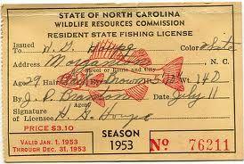 Fishing License Google Search Nc Fishing Vintage Fishing