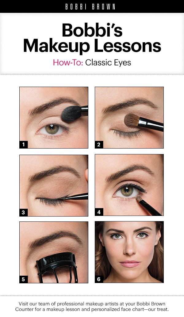 Makeup Lessons By Bobbi Brown Classic Eyes Bobbi Brown Makeup Looks Brown Makeup Looks Bobbi Brown Makeup