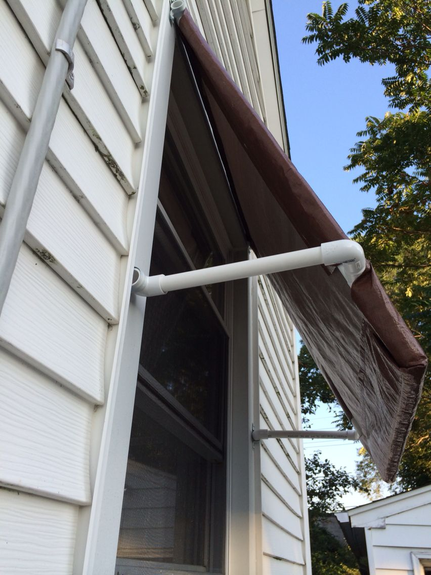this awnings hand south peeled awning santa diy two shade window pole patios inch fe wood exterior west on provides home homes southwest