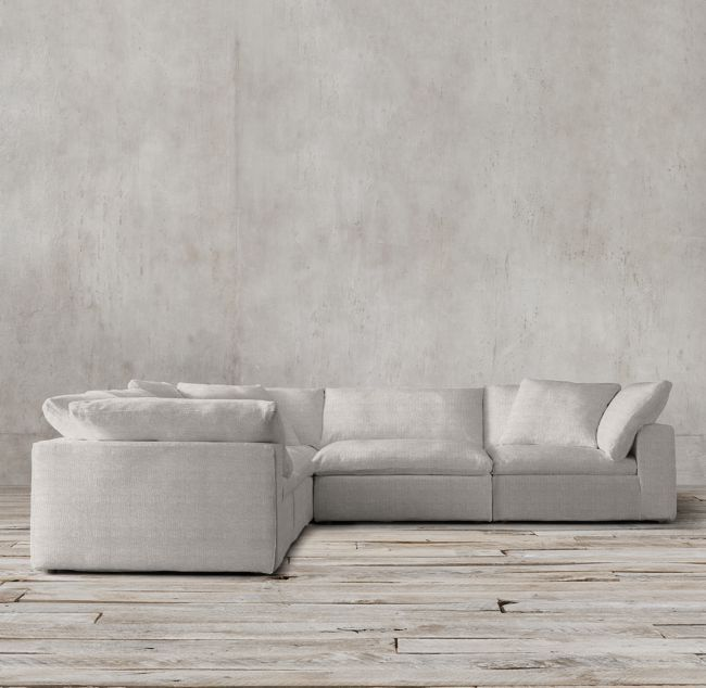 Petite Cloud Modular Fabric L Sectional Restoration Hardware Sectional Corner Sectional Comfortable Sofa
