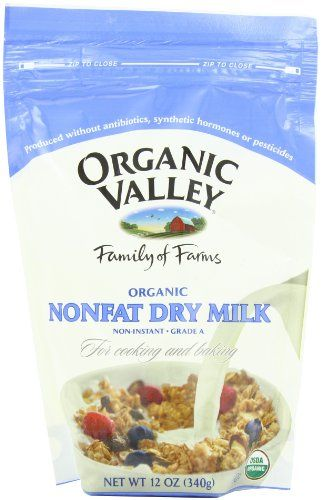 Organic Valley Organic Nonfat Dry Milk Powder, 12-Ounce Bags (Pack of 4) Organic Valley http://www.amazon.com/dp/B001ELL3LY/ref=cm_sw_r_pi_dp_BUW-ub1EA7F40