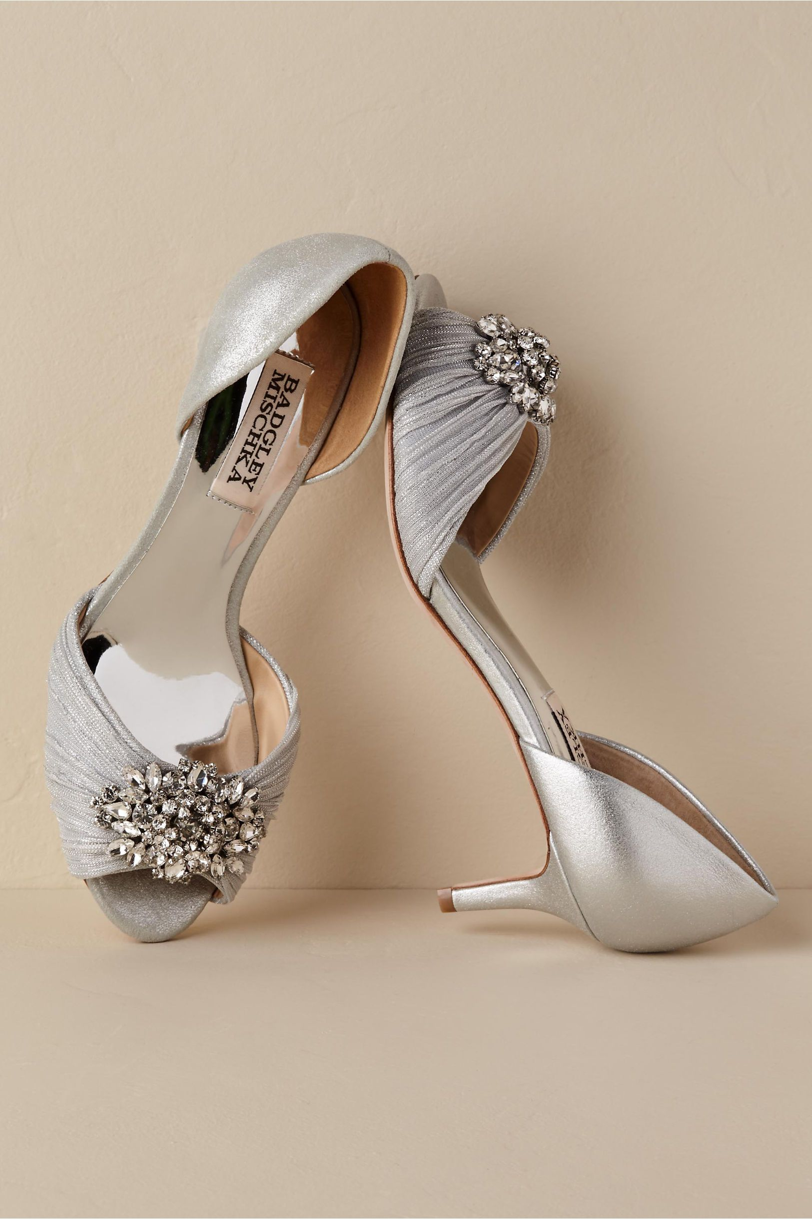 2caed6336737 BHLDN s Badgley Mischka Sabine Heels in Silver