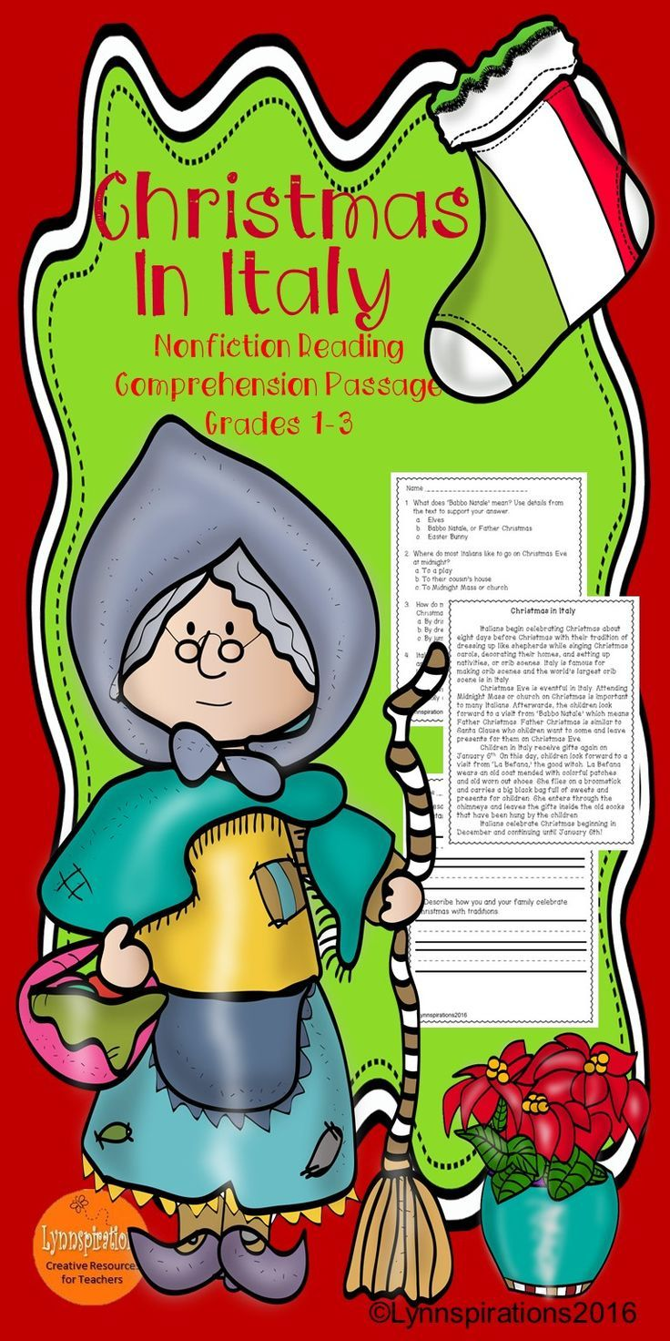 Christmas in Italy: Non-fiction Reading Comprehension Passage For Grades 1-3 | Reading ...